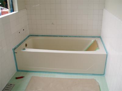 山梨県甲府市S様 浴室リフォーム タイル工事