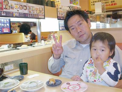 ヤンチャ坊主と一緒にハイ!チーズ(^^)V