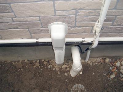 エコキュートの風呂配管と給湯配管