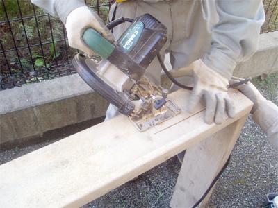 エコキュート用の基礎コンクリート型枠。