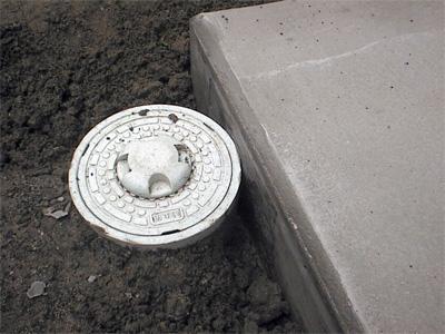 エコキュート用のコンクリート基礎工事