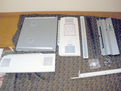 蓄熱式暖房器の組立準備