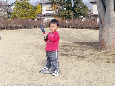 息子と野球