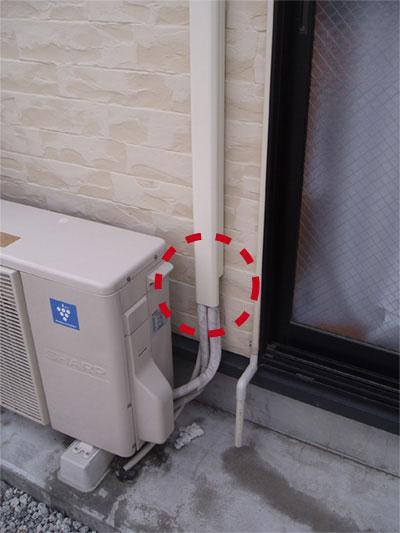 エアコンのダメ工事