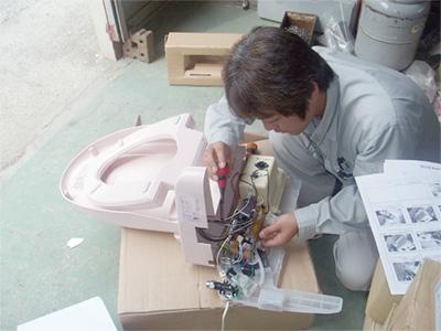 温水洗浄便座修理